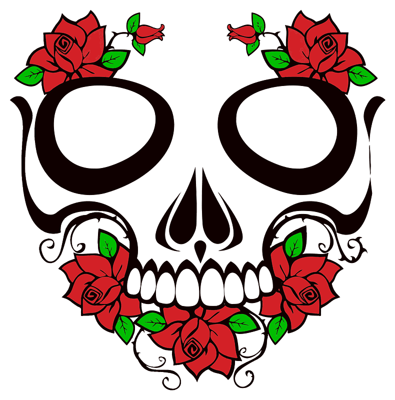 Sugar Skull clipart transparent background 3