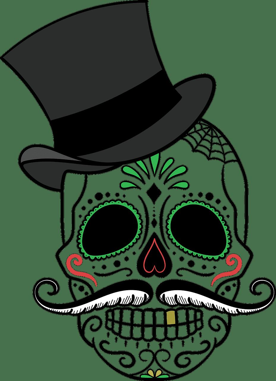 Sugar Skull clipart transparent background 4