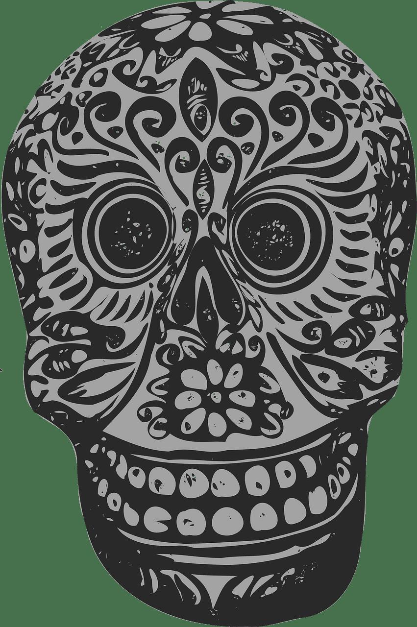 Sugar Skull clipart transparent background