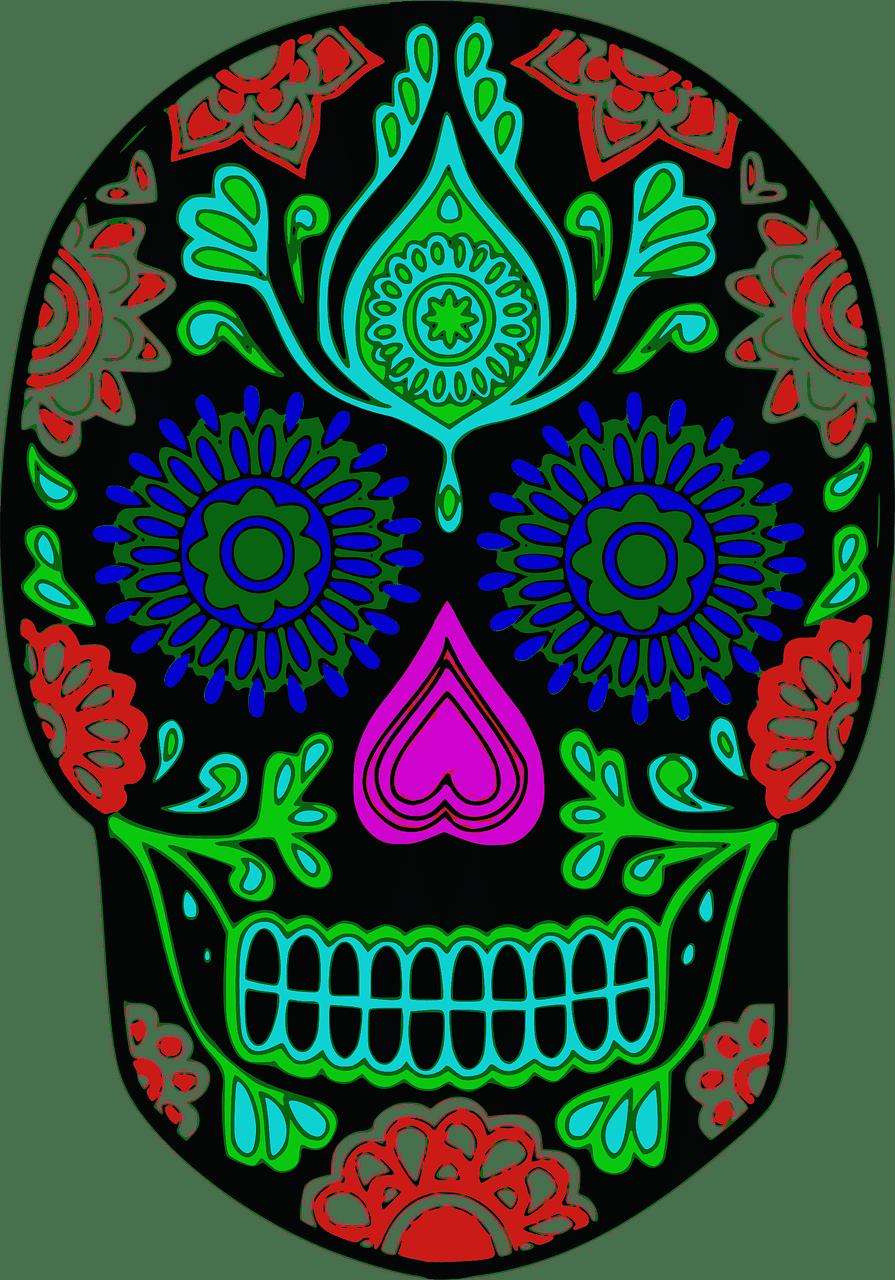 Sugar Skull clipart transparent download