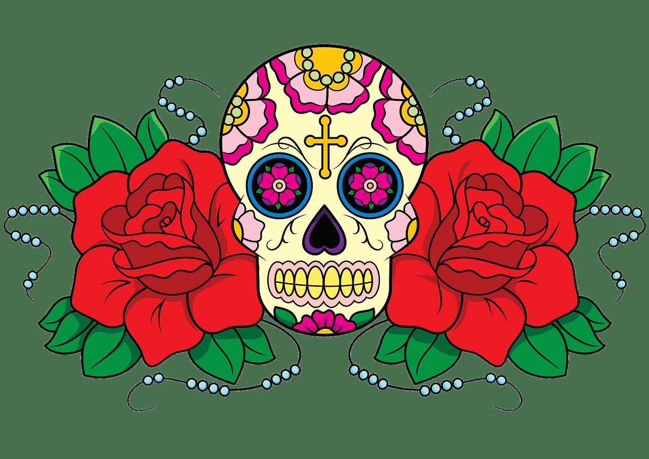Sugar Skull clipart transparent for free