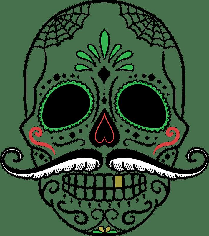 Sugar Skull clipart transparent free