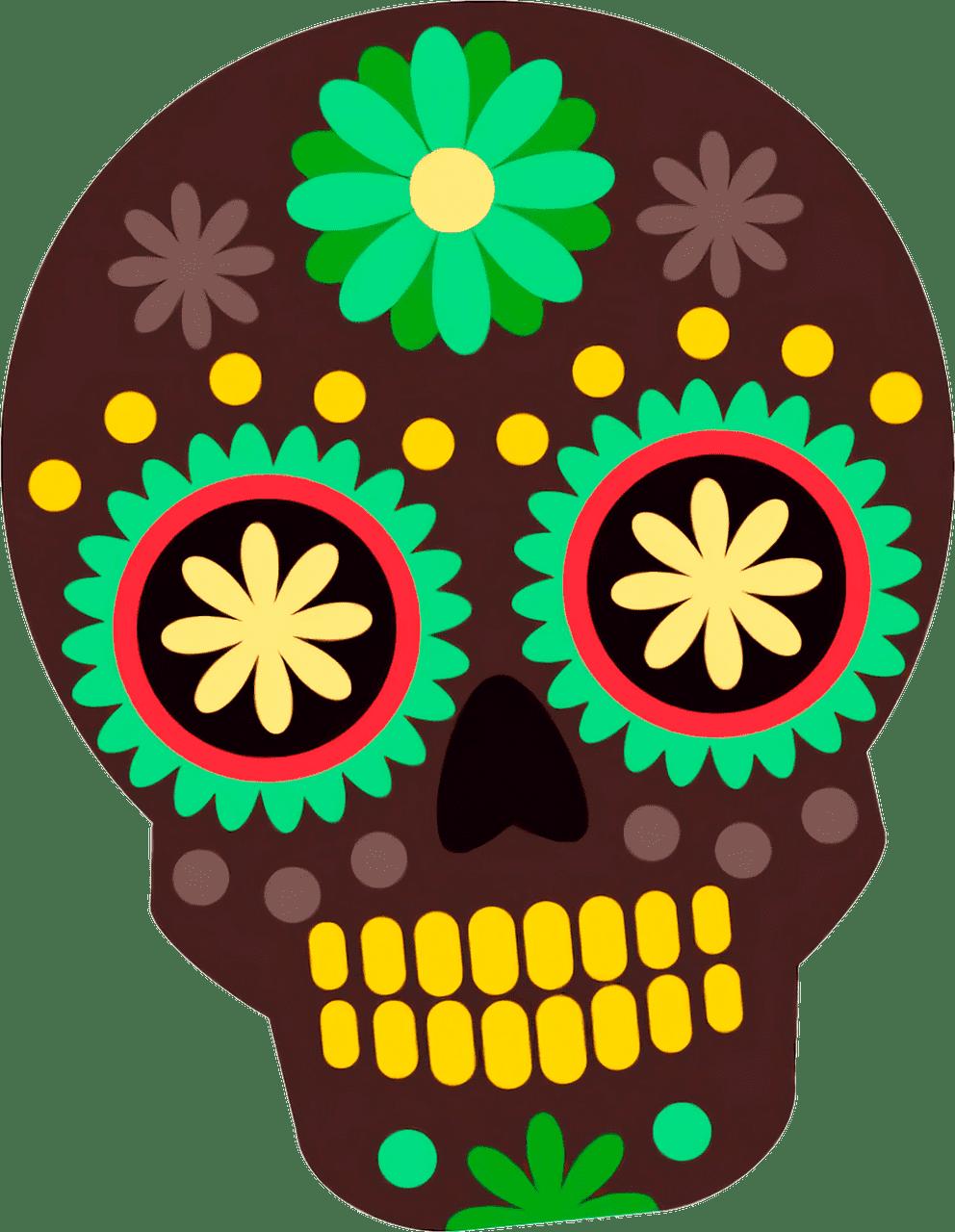 Sugar Skull clipart transparent images