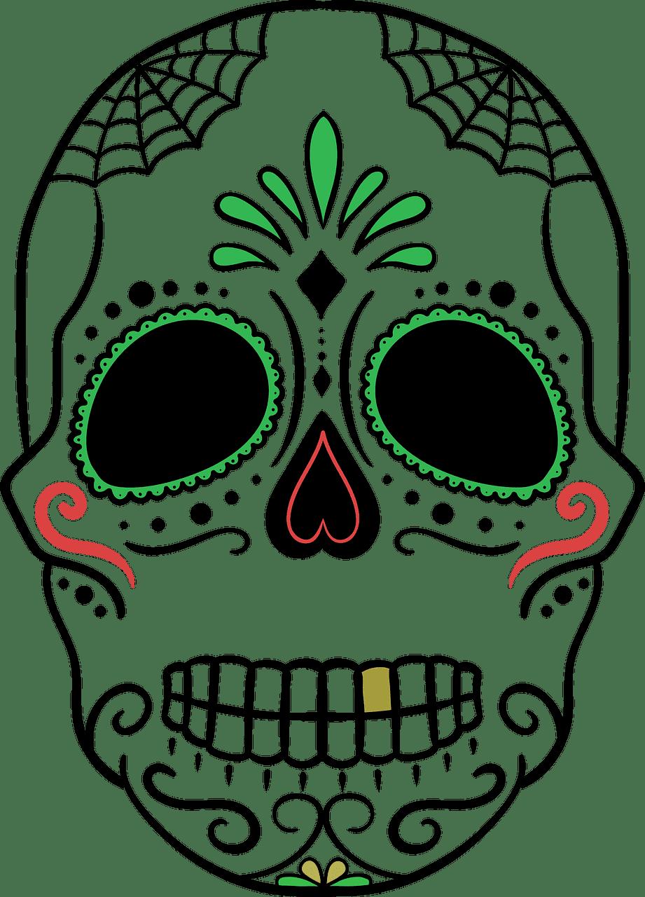 Sugar Skull clipart transparent