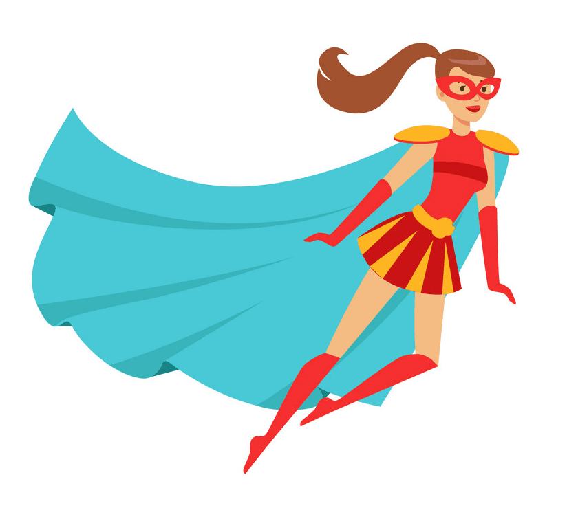 Superhero Girl clipart for kid