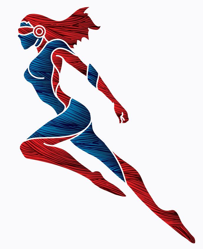 Superhero Girl clipart image