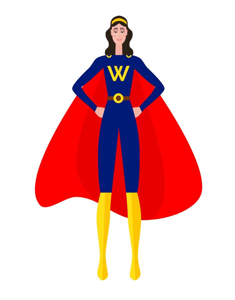 Superhero Girl clipart picture