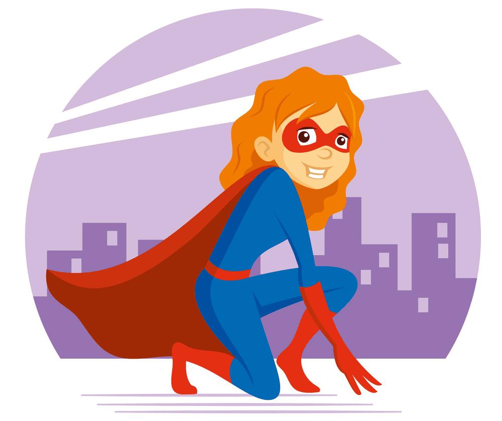 Superhero Girl clipart png free
