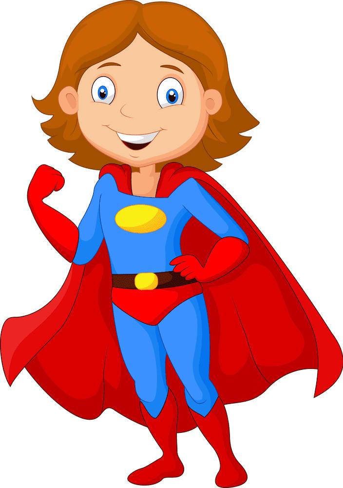 Superhero Girl clipart