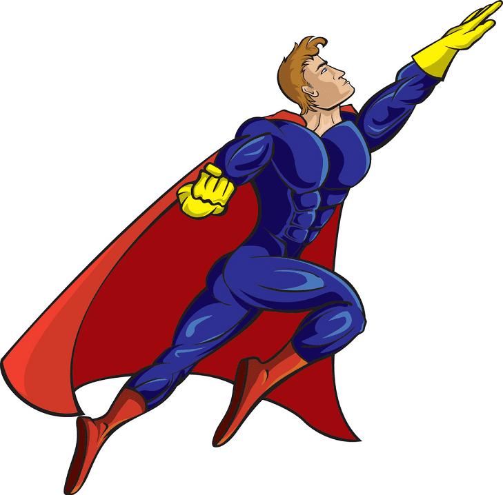 Superhero clipart 10