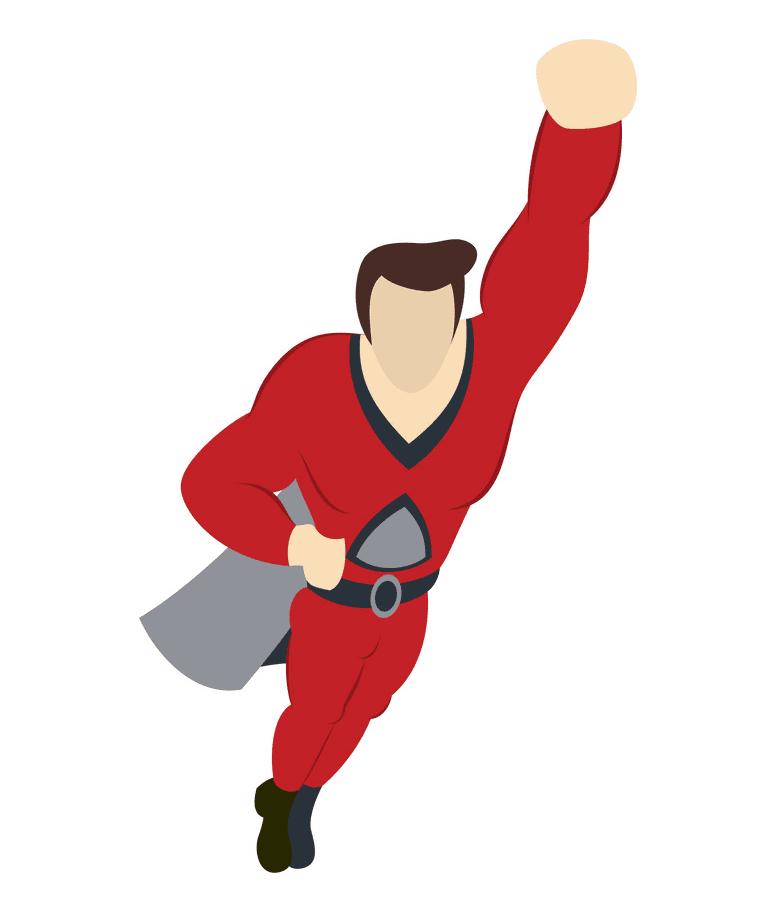 Superhero clipart 6