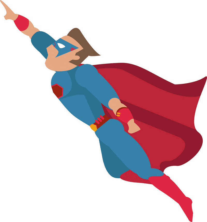 Superhero clipart 8