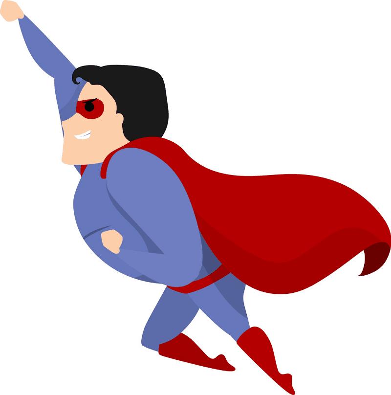 Superhero clipart free 1