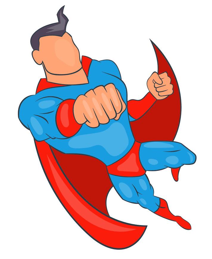 Superhero clipart free 2