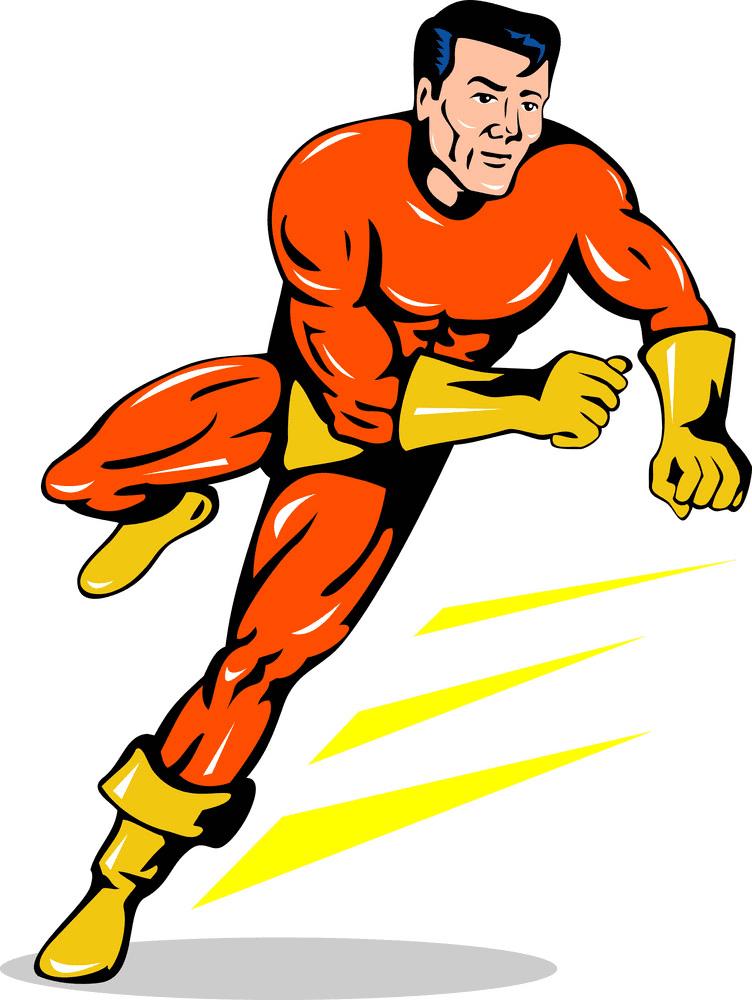 Superhero clipart free 4