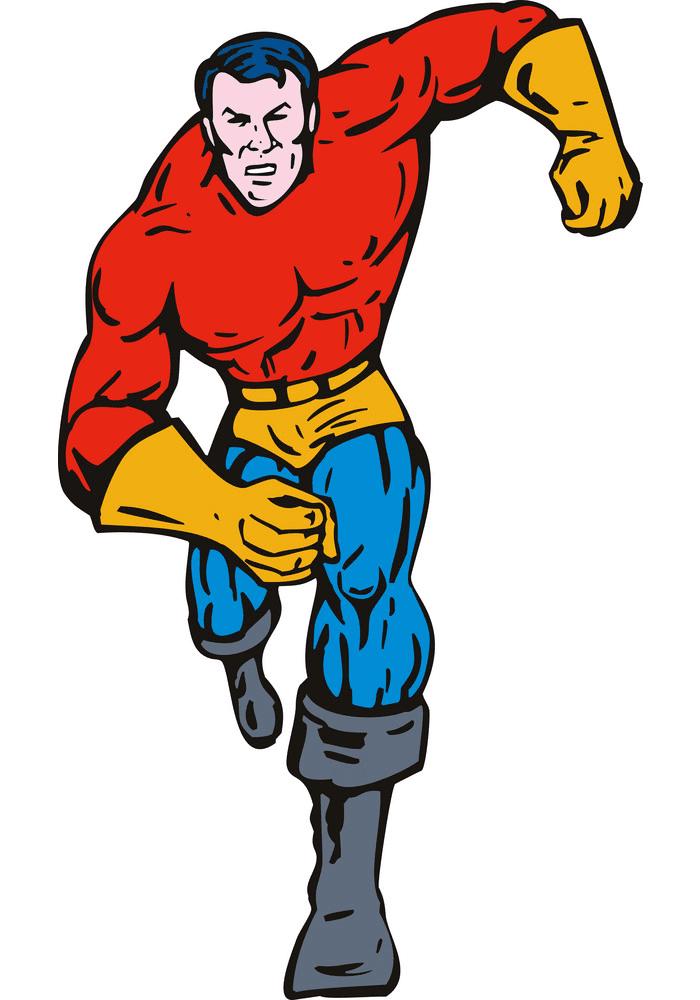 Superhero clipart free 5