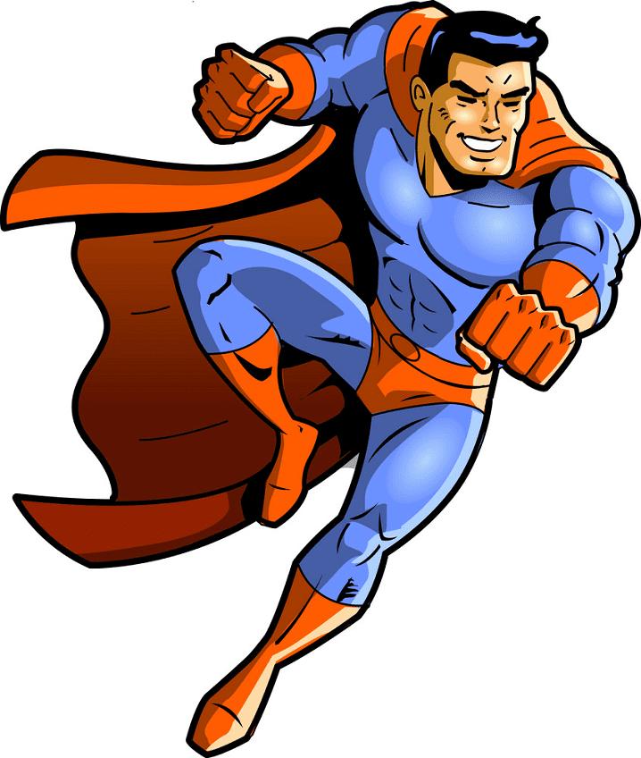 Superhero clipart free 7