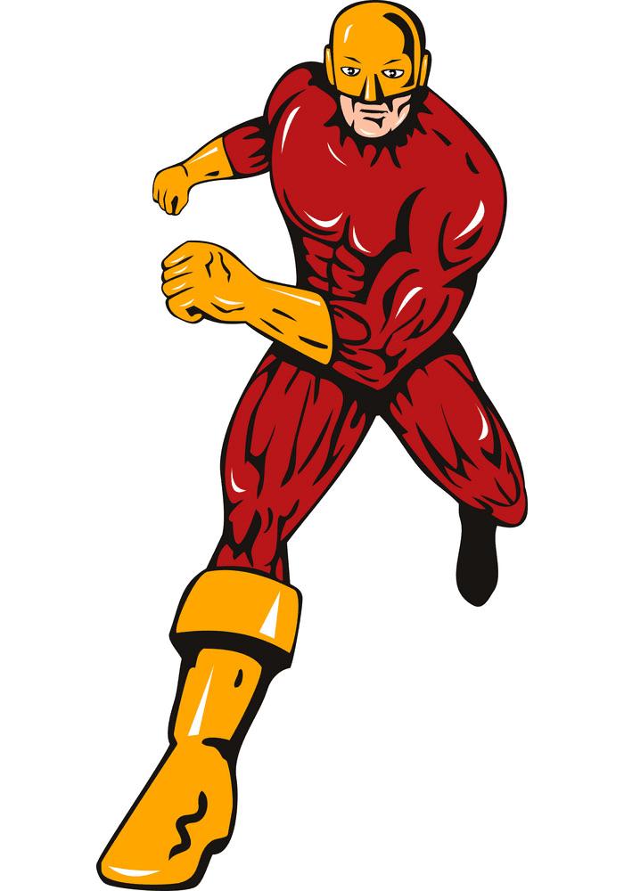 Superhero clipart free 8