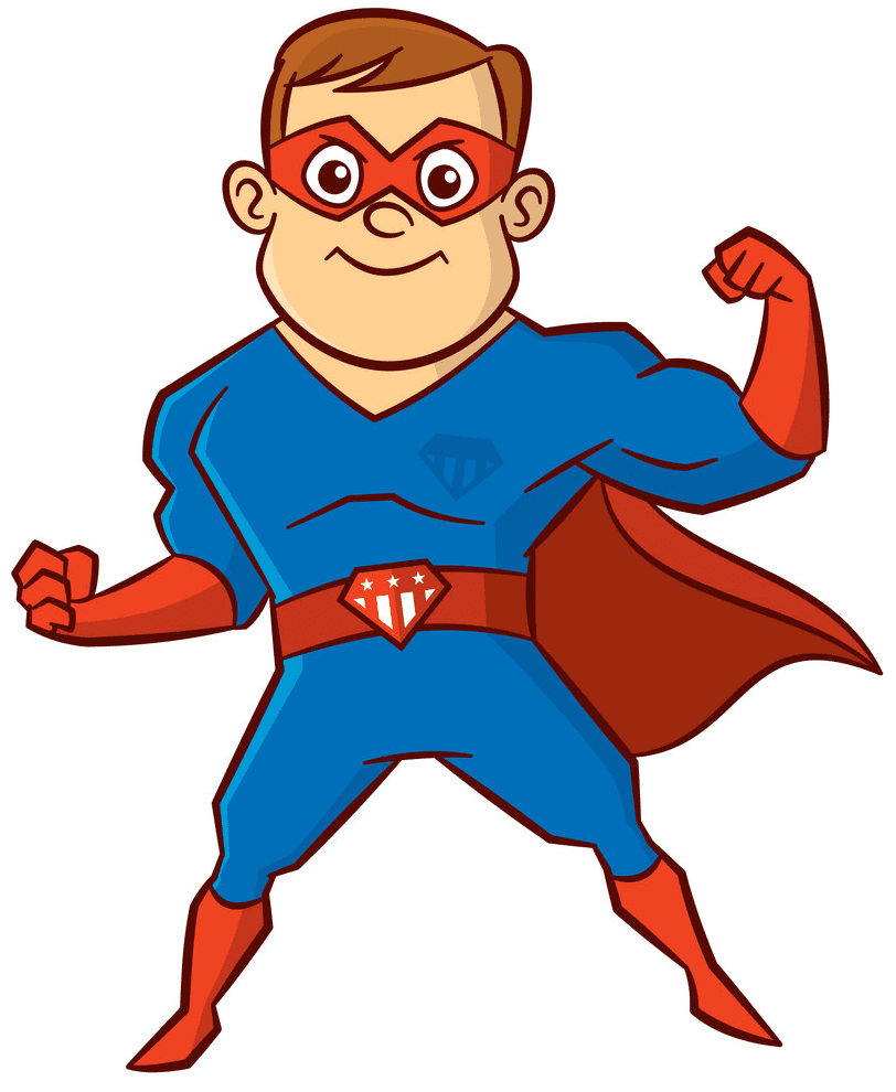 Superhero clipart free 9