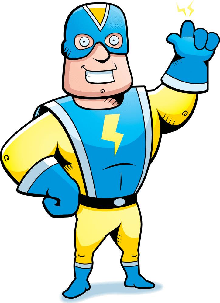 Superhero clipart free for kid