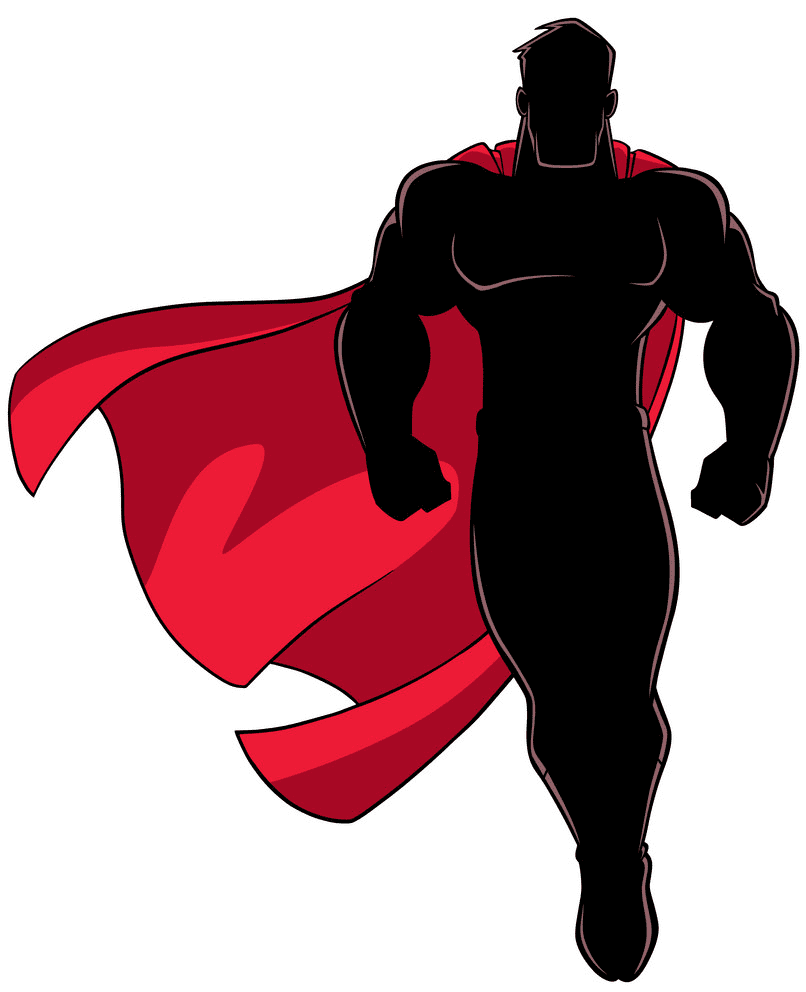 Superhero clipart free for kids