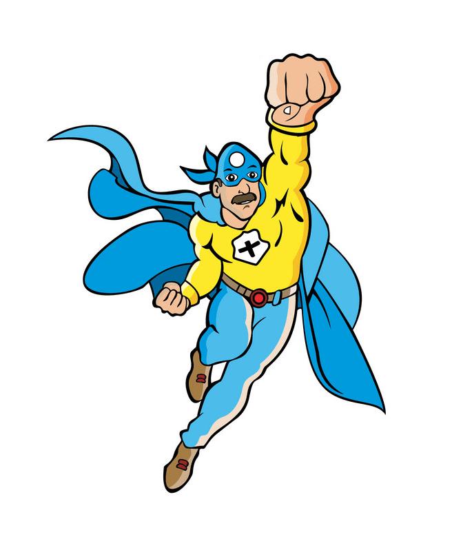 Superhero clipart free image
