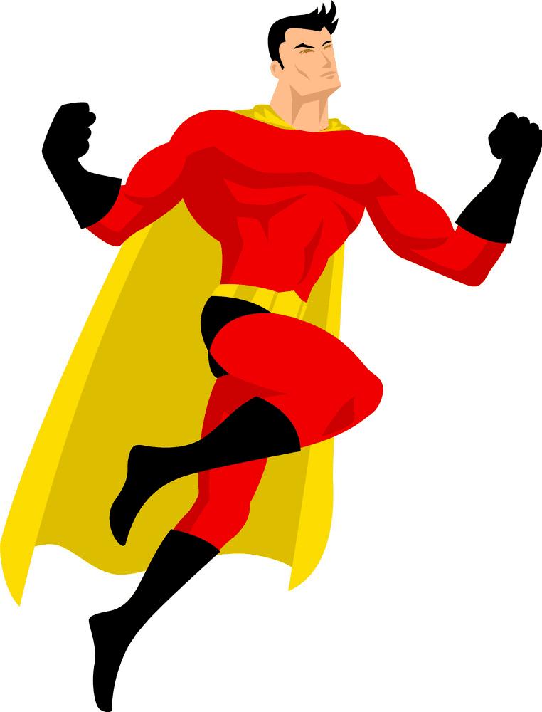 Superhero clipart free