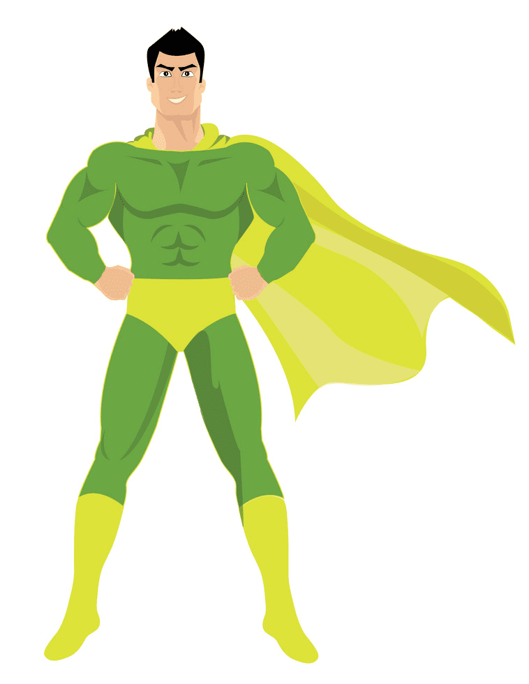 Superhero clipart image