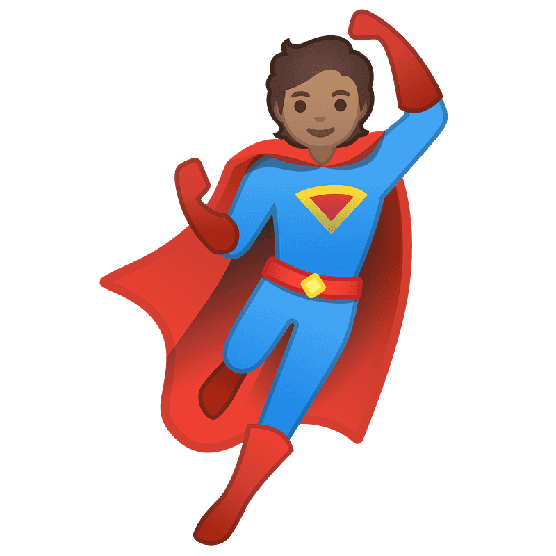 Superhero clipart transparent 1