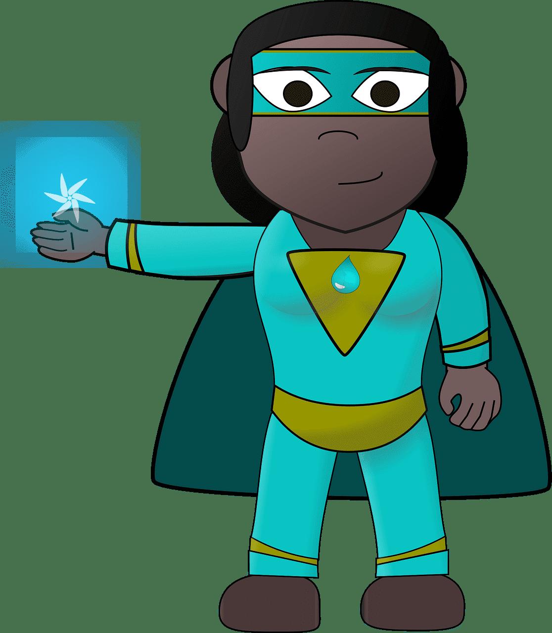 Superhero clipart transparent 4