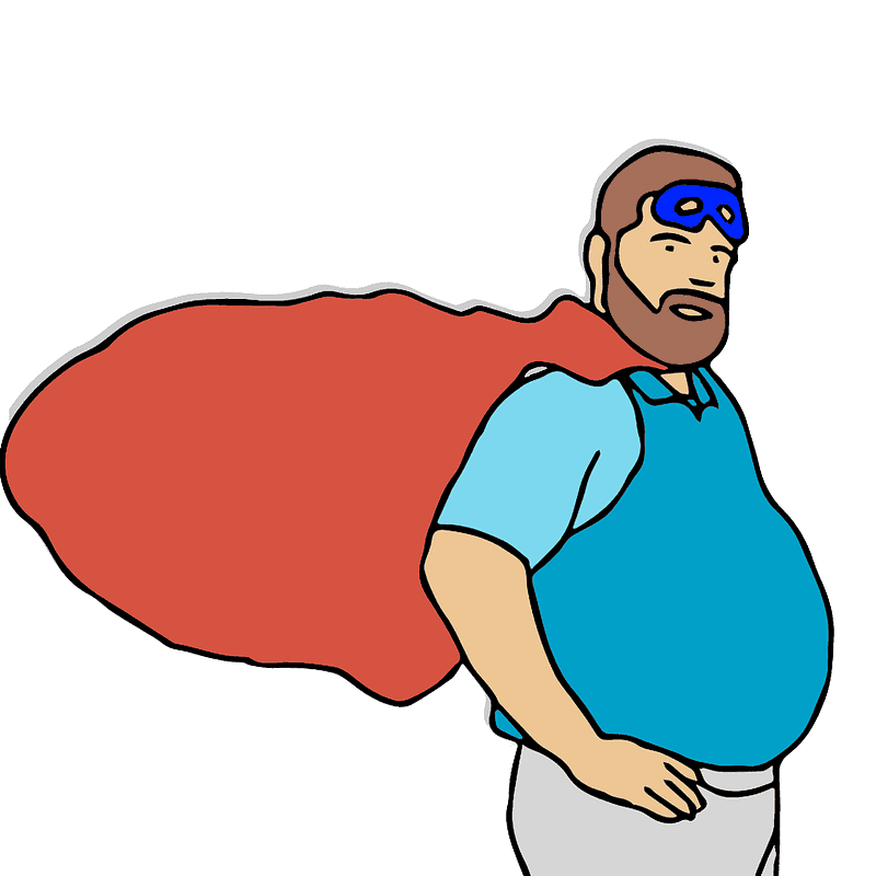 Superhero clipart transparent background 2