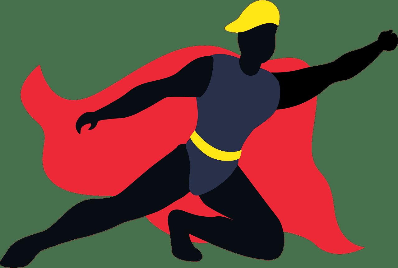 Superhero clipart transparent background 3