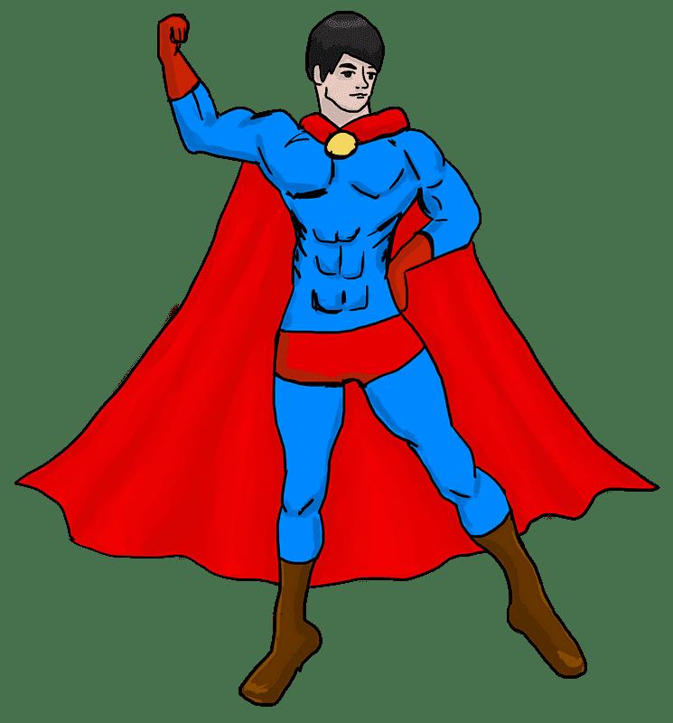 Superhero clipart transparent background 4