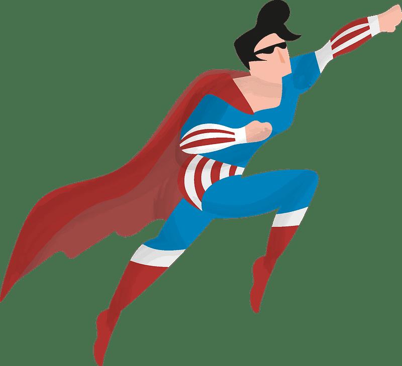 Superhero clipart transparent background 5