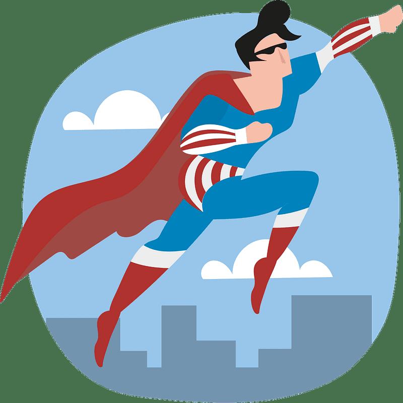 Superhero clipart transparent background 7