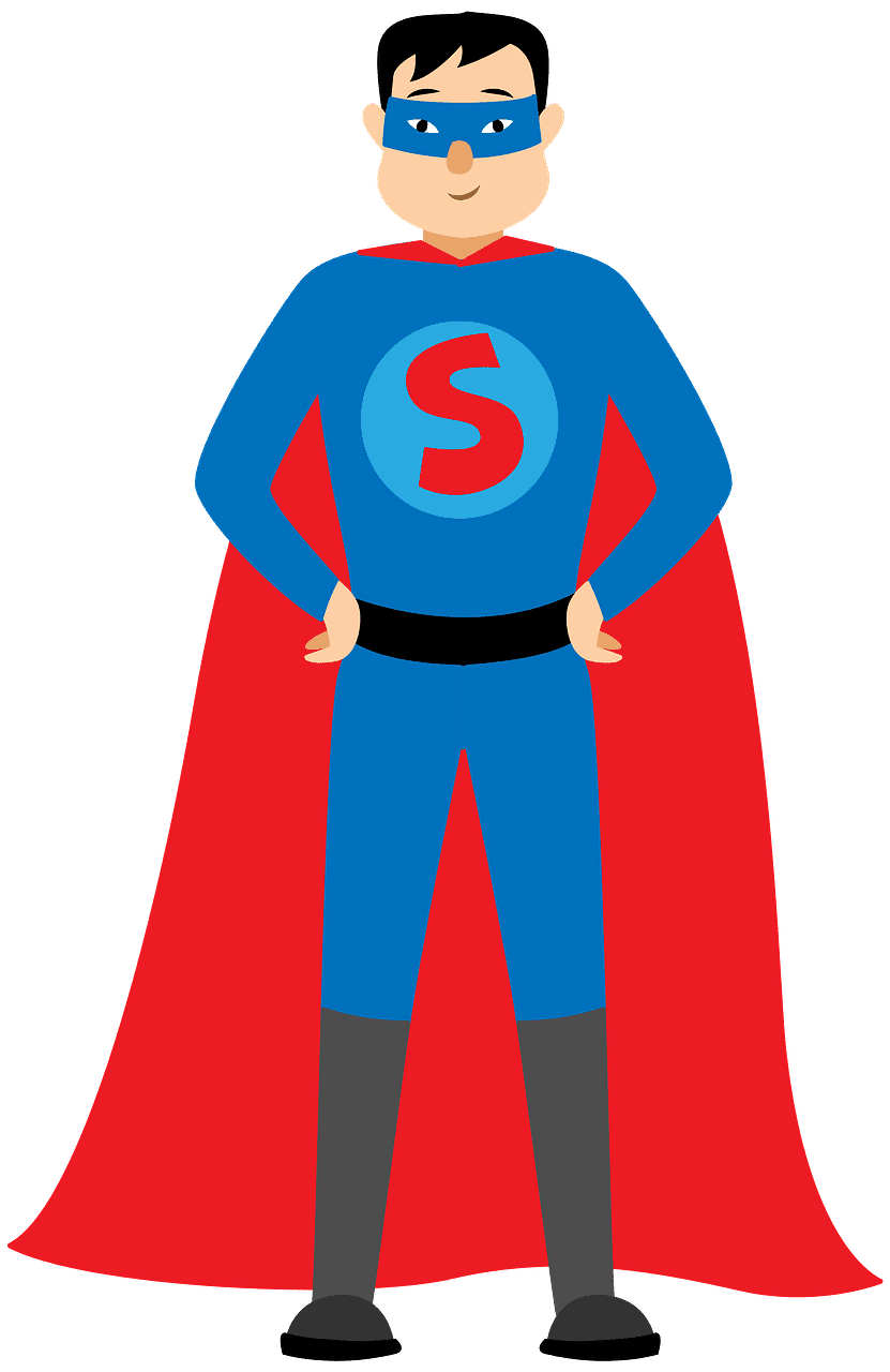 Superhero clipart transparent for free