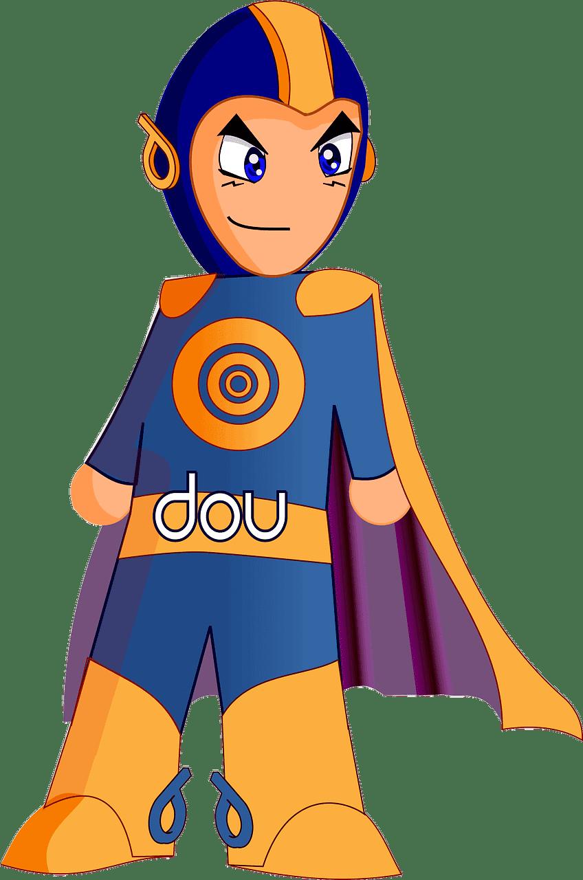 Superhero clipart transparent for kids