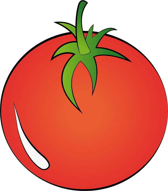 Tomato clipart transparent for kid