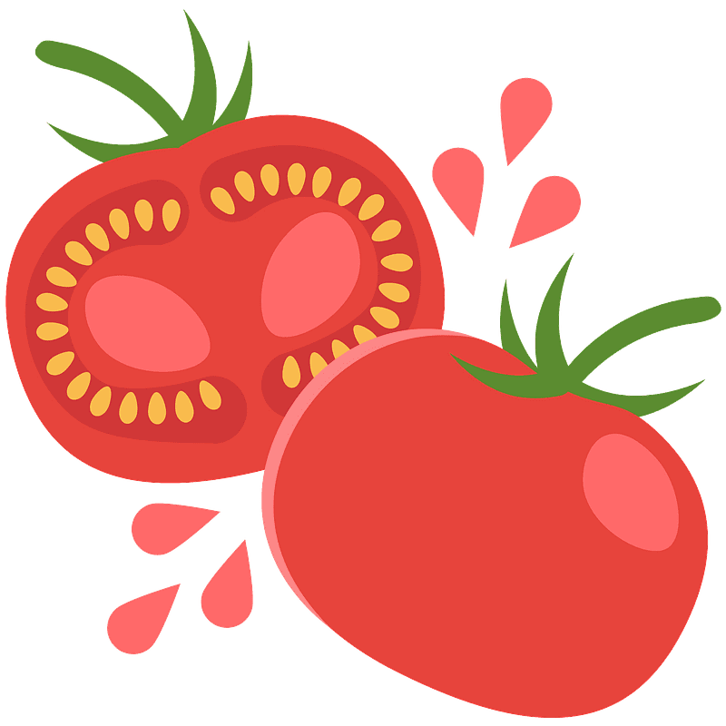 Tomato clipart transparent for kids