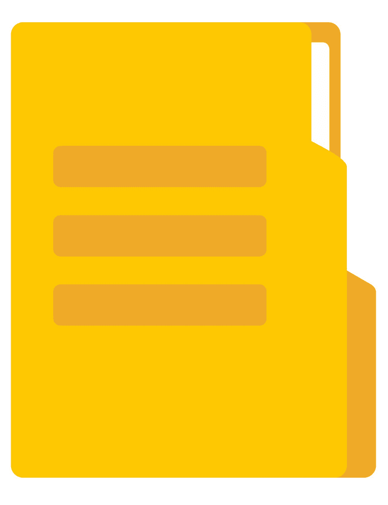 Yellow Folder clipart for free