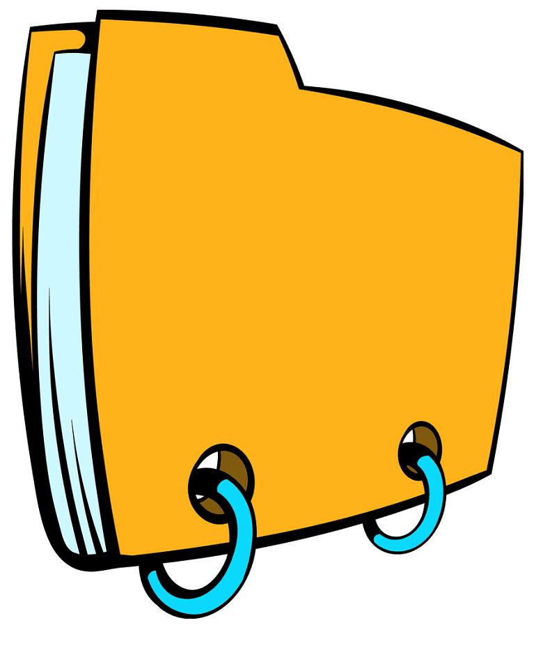 Yellow Folder clipart for kid