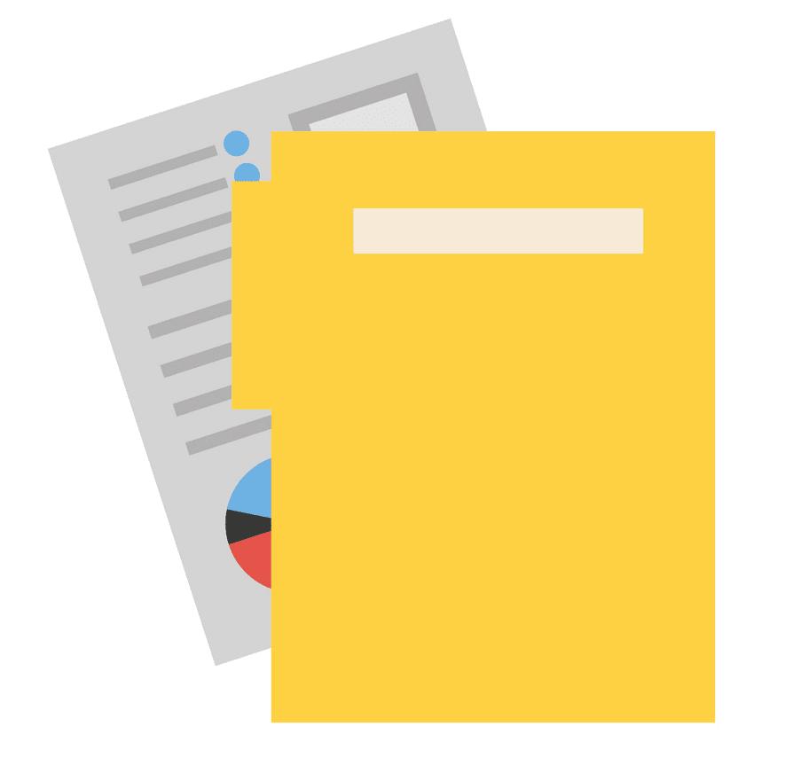 Yellow Folder clipart for kids