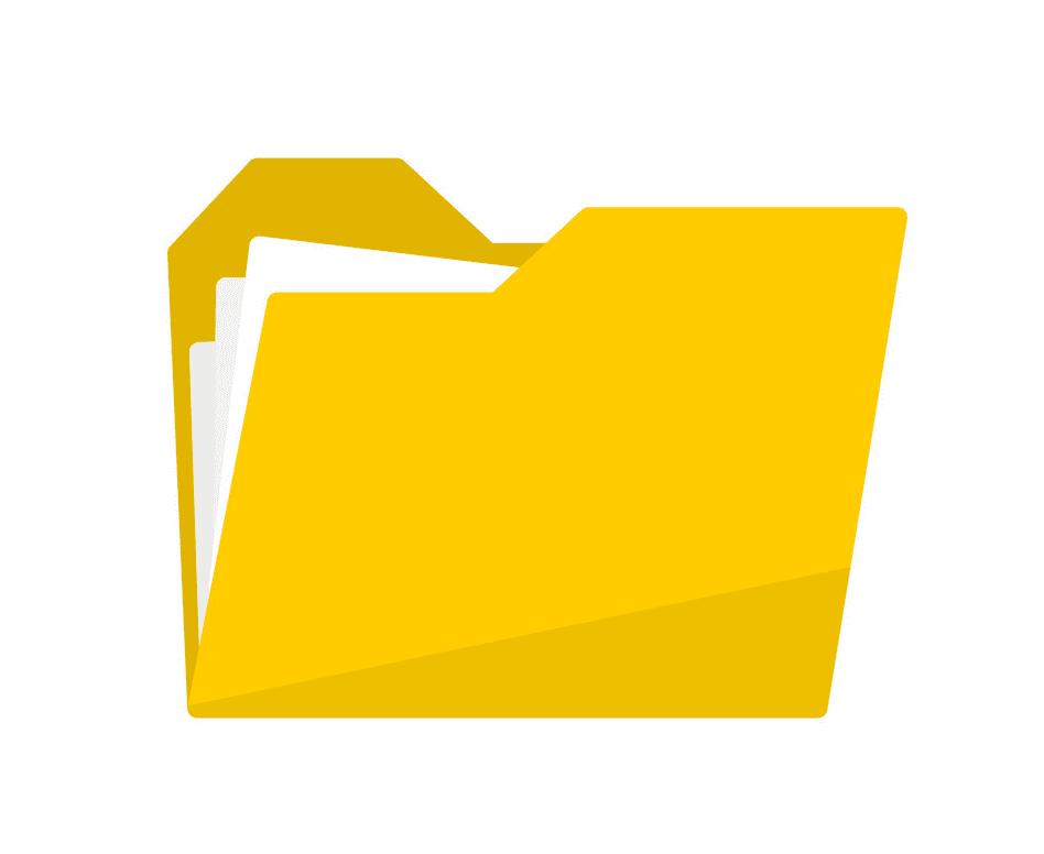 Yellow Folder clipart free