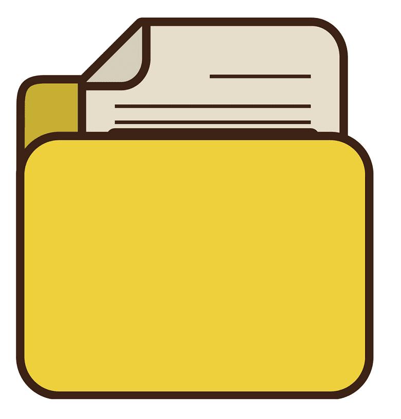 Yellow Folder clipart image