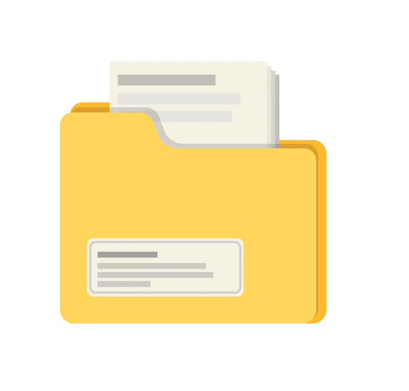 Yellow Folder clipart images