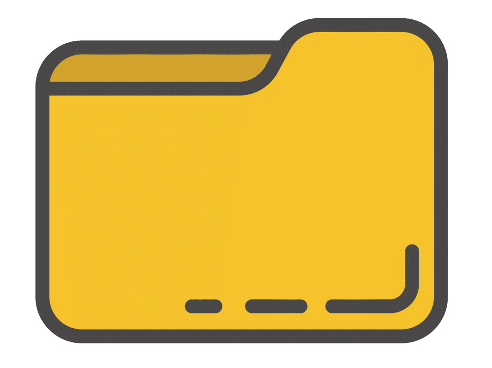 Yellow Folder clipart png image