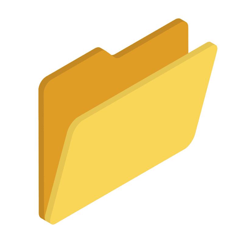 Yellow Folder clipart