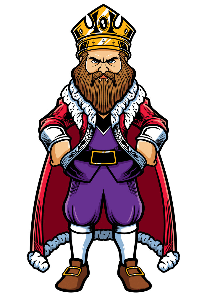 Angry King clipart