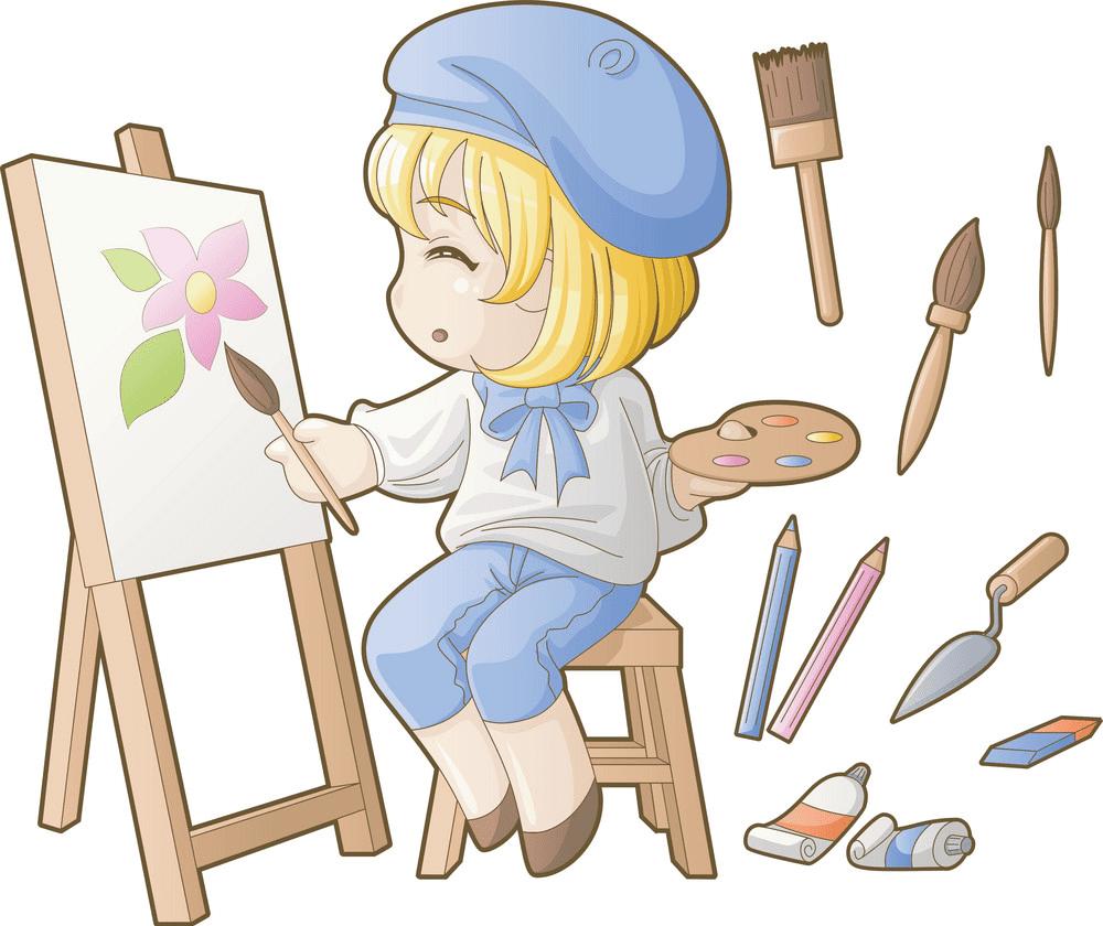 Artist clipart for kid