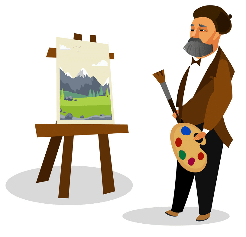 Artist clipart free for kid